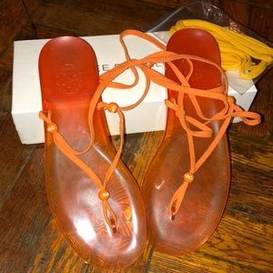 d7c2008f1ec3 See By Chloe Shoes - Orange jelly sandals